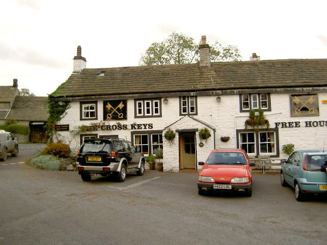 Cross Keys Pub, East Marton, N.Yorkshire, England