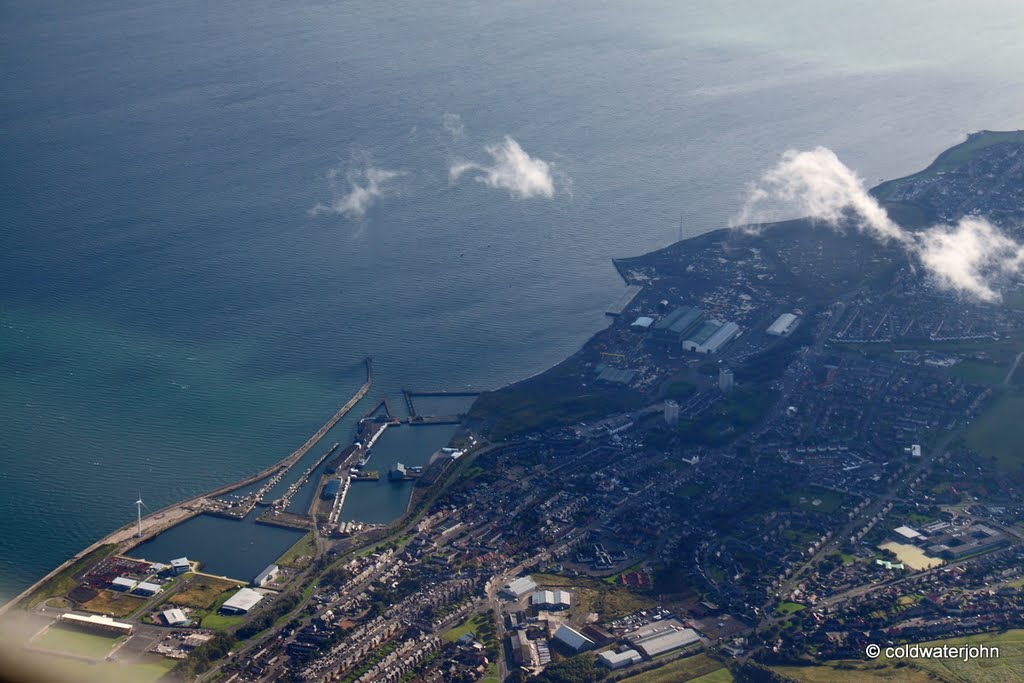 Aerial - Methil Docks from 5,250 feet