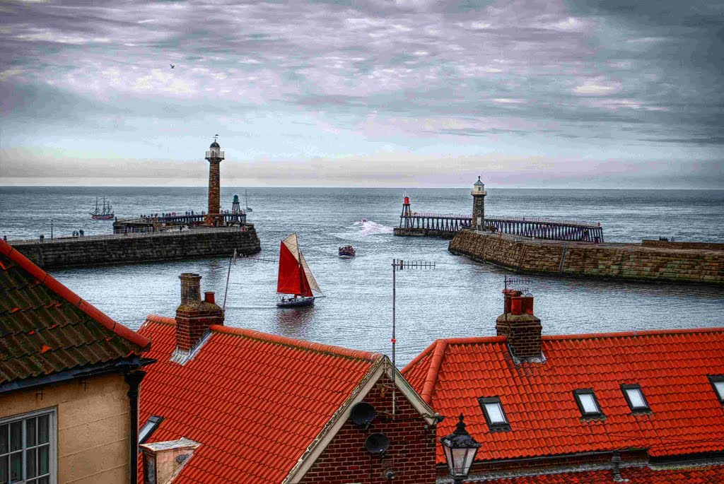 Whitby,North Sea,North Yorkshire,England