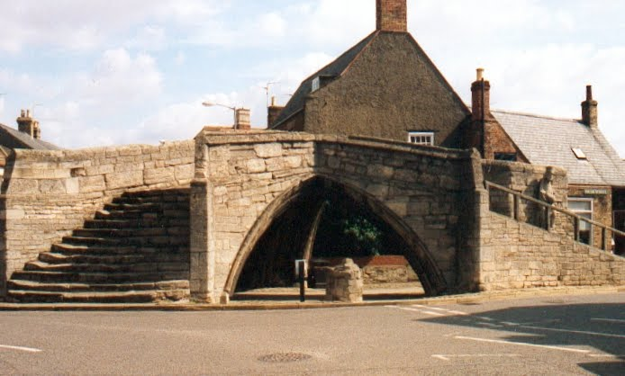 THE TRIANGULAR BRIDGE, Crowland, Lincolnshire.  (See comments box for story).
