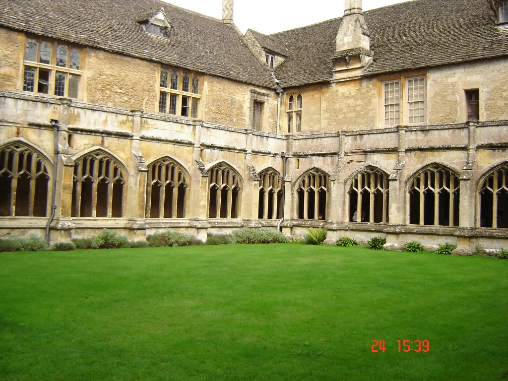 Lacock Abbey Wiltshire UK - The interior of the medieval Lacock Abbey was used as the classroom of Hogwarts School where Harry would sit with his fellow wizard apprentices.