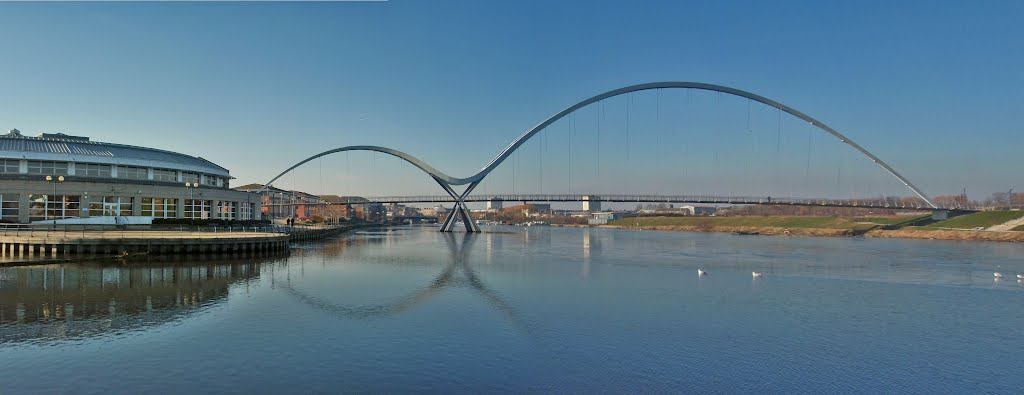Infinity Bridge Stockton On Tees, Opened 16th May 2009.  (Please Enlarge)