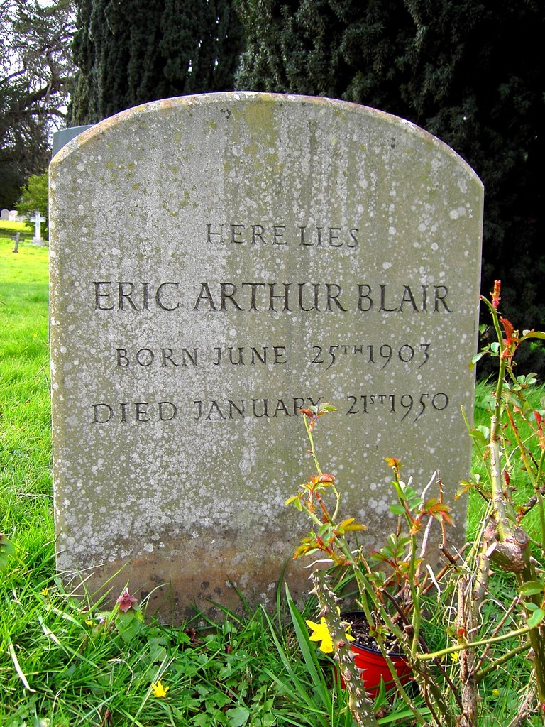 Grave of Eric Arthur Blair (George Orwell), All Saints, Sutton Courtenay (west)