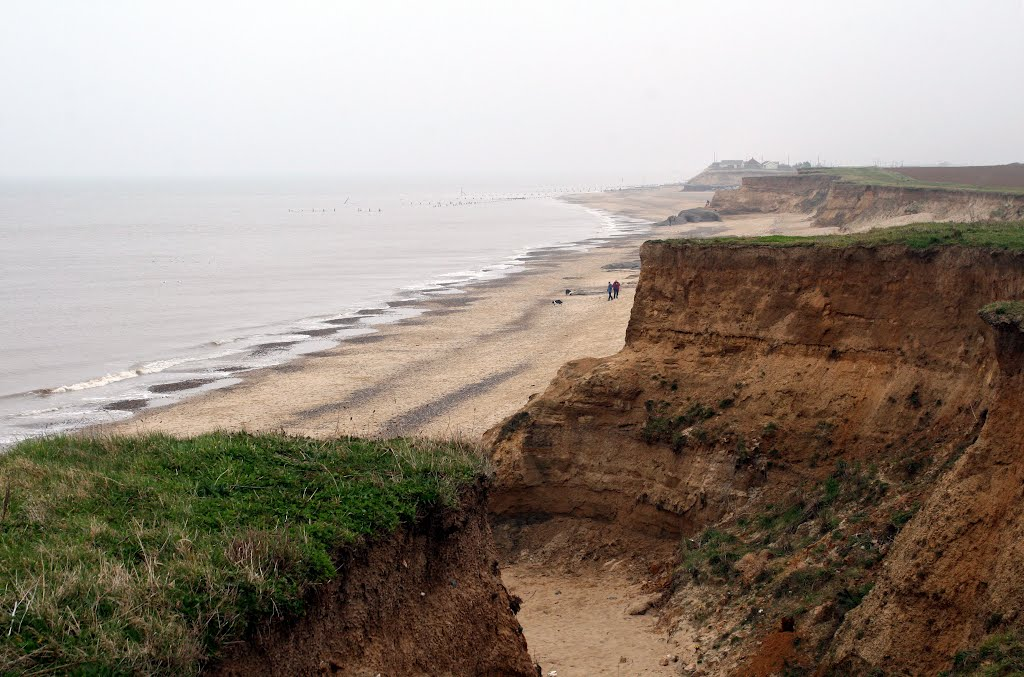 Coastal Erosion at Happisburgh.  (Pronounced Haysbro).