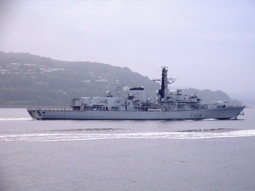 HMS Northumberland heading Coulport.