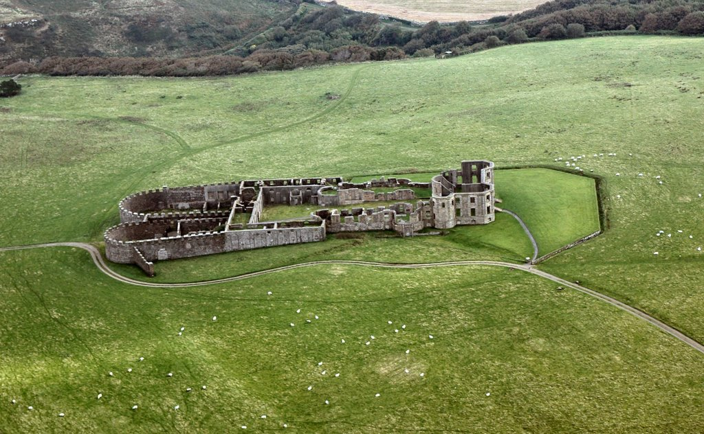 Bishops Palace Downhill Northern Ireland - Ariel View