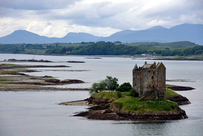 Castle Stalker and Isle of Lismore.