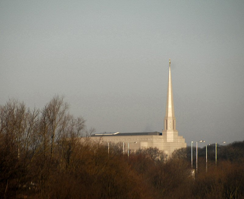 Mormon Temple as seen from M61