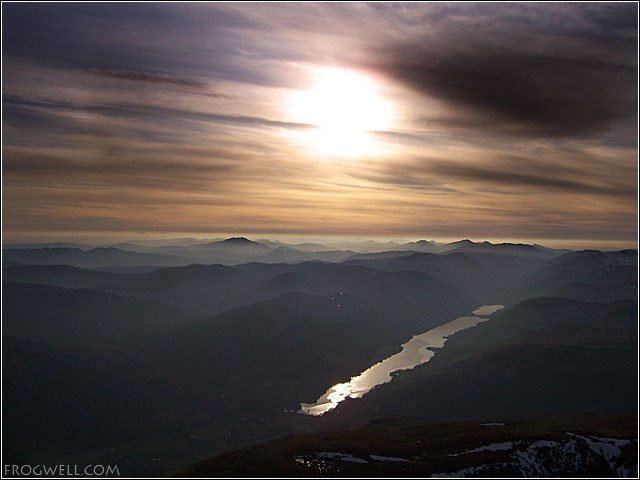 Loch Voil and the Braes of Balquhidder from the air