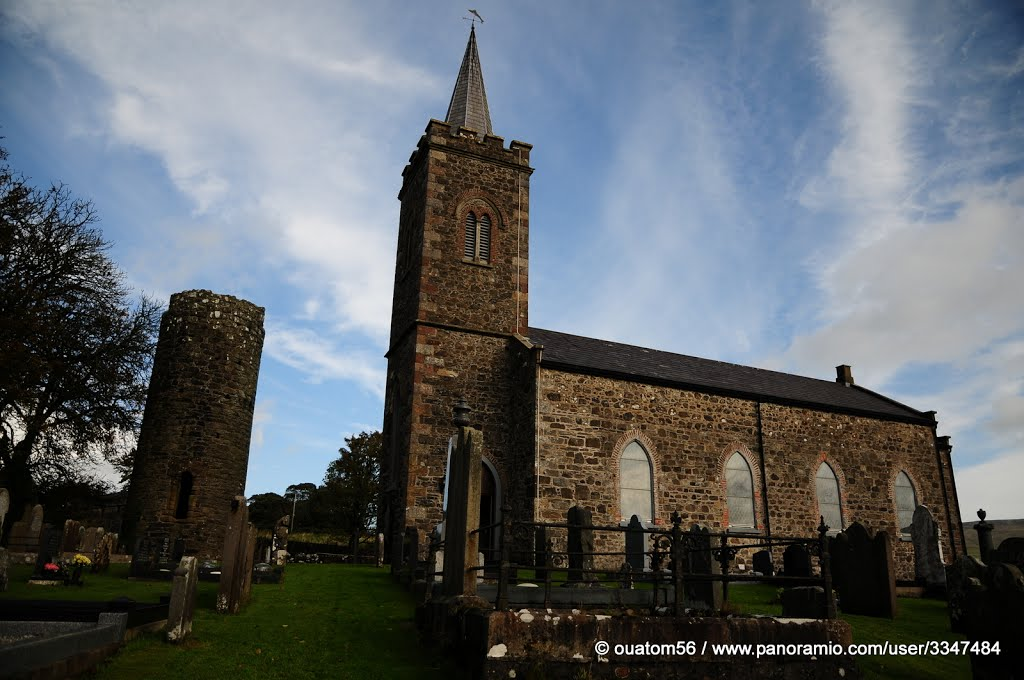 Armoy round tower and church