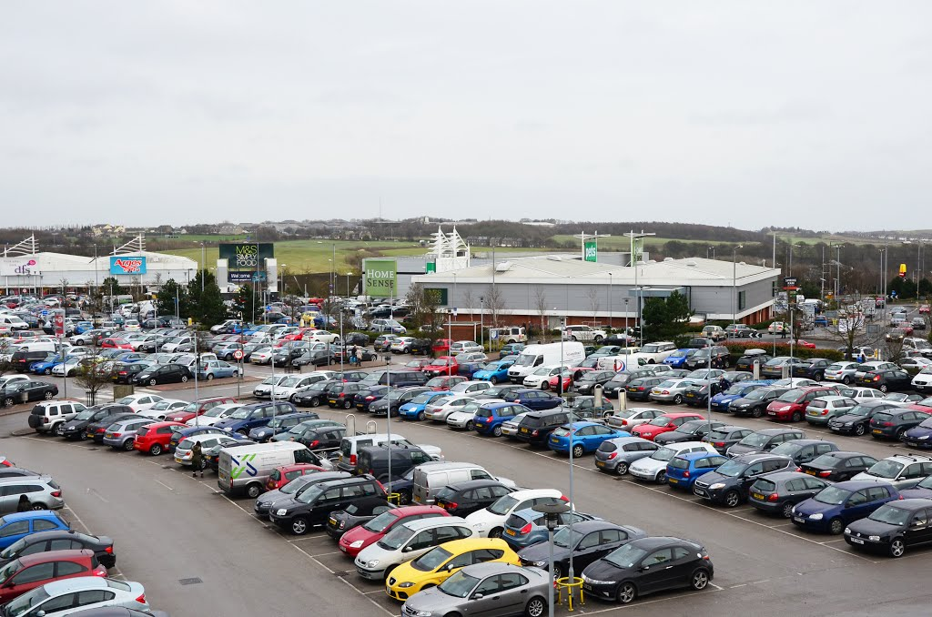 Birstall Retail Park and my car