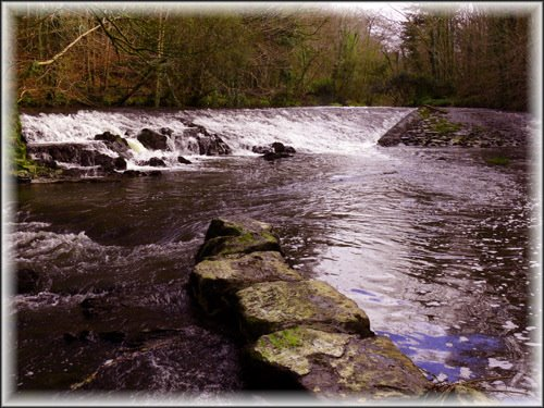 Weir on River Cusher, Clare Glen, Co Armagh