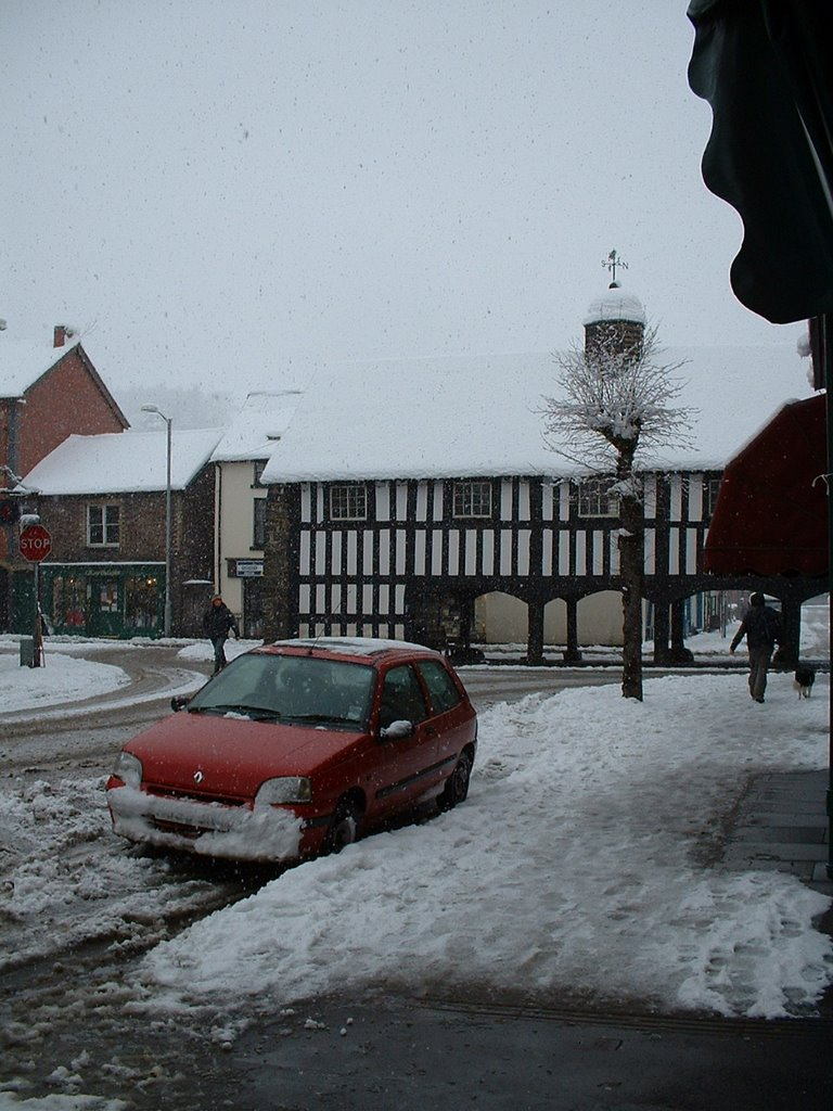 Llanidloes in Snow