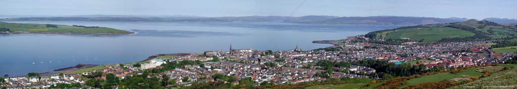 Overlooking Largs from Castle Hill