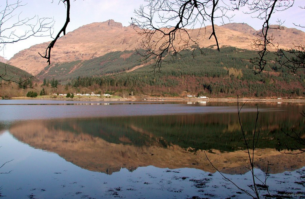 The Cobbler, viewed from the shores  Loch Long